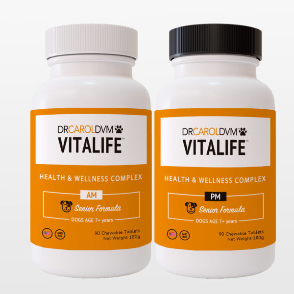 Dr. Carol's VitaLife Dog Health & Wellness Formula - Seniors Senior AM PM