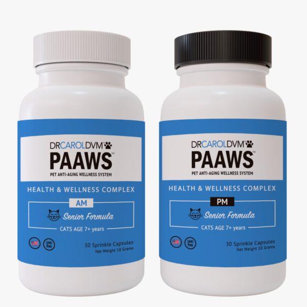 Dr. Carol's PAAWS Cat Health & Wellness Complex Senior AM PM