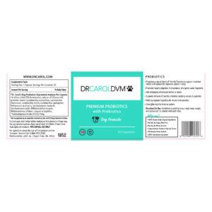 Dr. Carol's Premium Dog Probiotics with Prebiotics